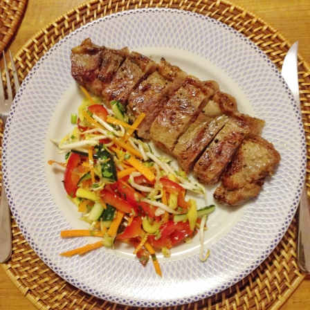 Steak and vitamin C Asian Salad