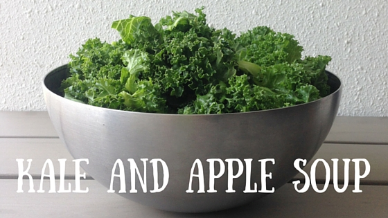 Kale and apple soup - kale fertility food