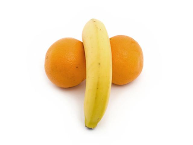 Orange and banana genitals
